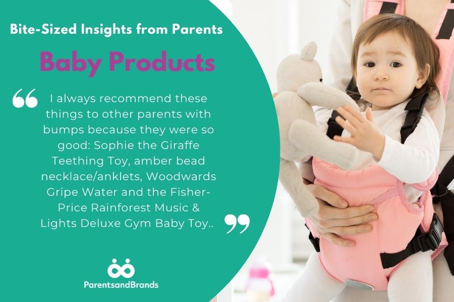 insights from parents about baby products