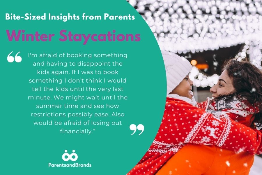 insights from parents about winter staycations