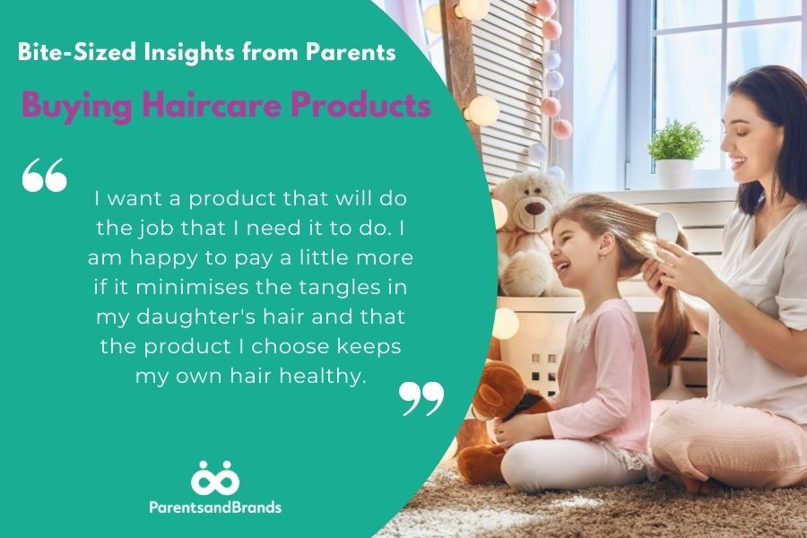 insights from parents about buying haircare products