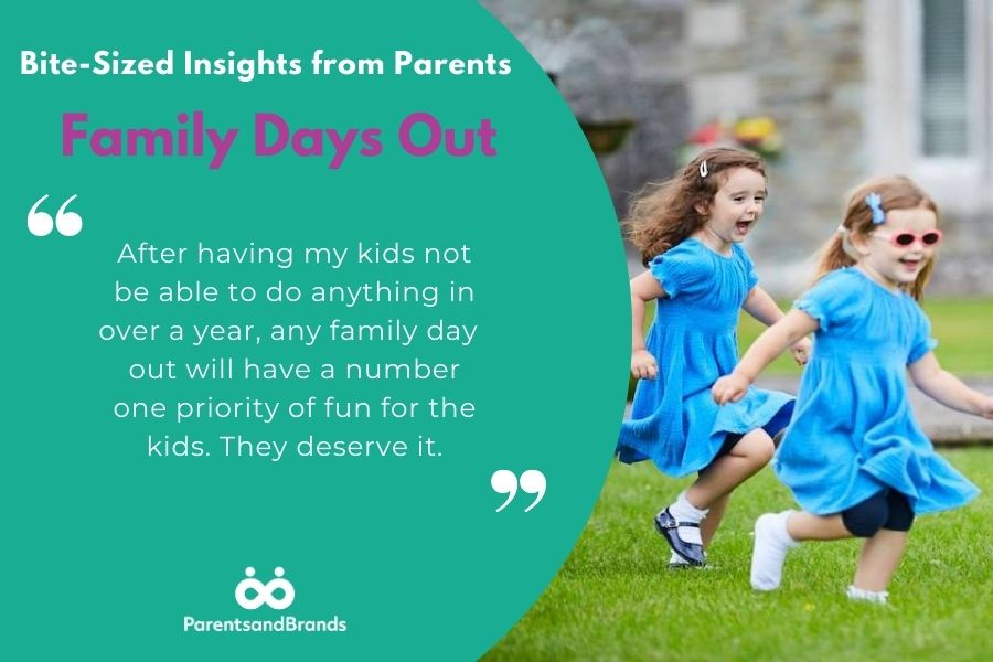 Insights from parents about family days out