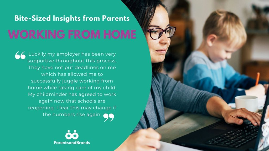 Bite Size insights from parents on working from home